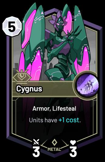 Cygnus - Units have +1c.