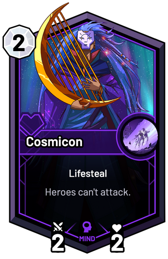 Cosmicon - Heroes can't attack.