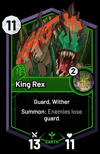 King Rex - Summon: Enemies lose guard.