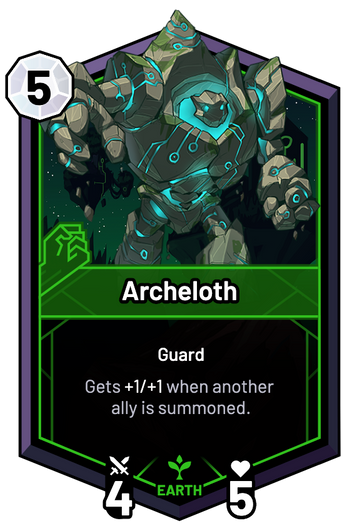 Archeloth - Gets +1/+1 when another ally is summoned.