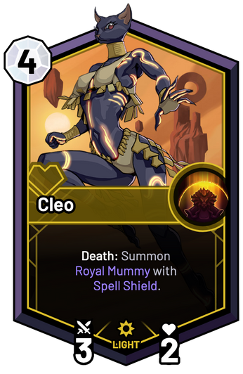 Cleo - Death: Summon Royal Mummy with Spell Shield.