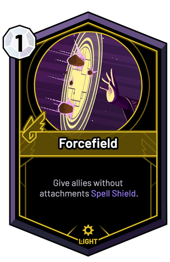 Forcefield - Give allies without attachments Spell Shield.