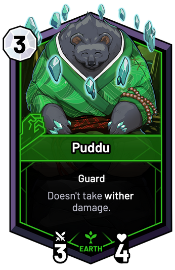 Puddu - Doesn't take wither damage.