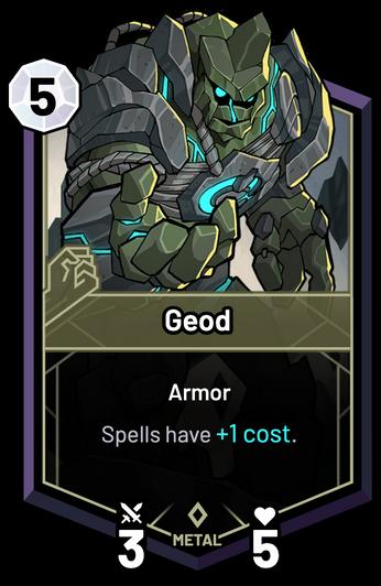 Geod - Spells have +1c.