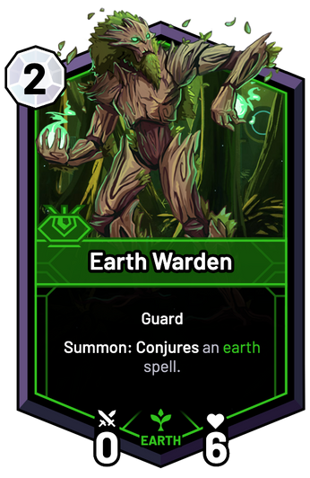 Earth Warden - Summon: Conjures an earth spell.