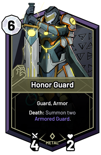 Honor Guard - Death: Summon two Armored Guard.