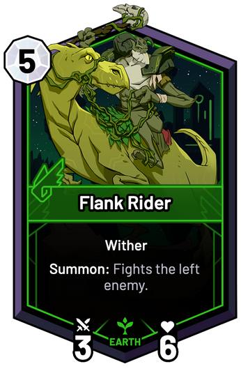 Flank Rider - Summon: Fights the left enemy.