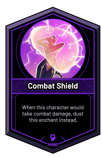 Combat Shield - When this character would take combat damage, dust this enchant instead.