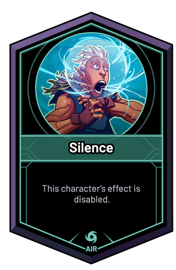 Silence - This character's effect is disabled.