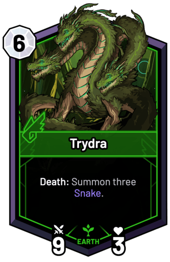 Trydra - Death: Summon three Snake.