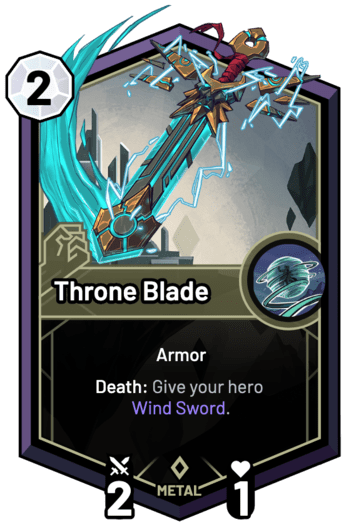 Throne Blade - Death: Give your hero Wind Sword.