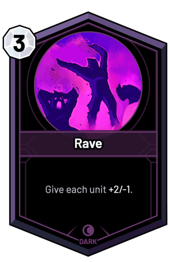 Rave - Give each unit +2/-1.