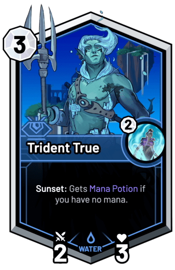 Trident True - Sunset: Gets Mana Potion if you have no mana.