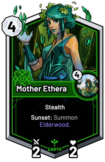 Mother Ethera - Sunset: Summon Elderwood.