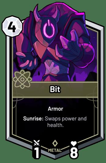 Bit - Sunrise: Swaps power and health.