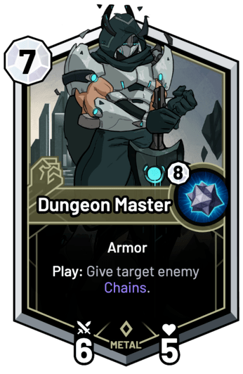 Dungeon Master - Summon: Give target enemy Chains.