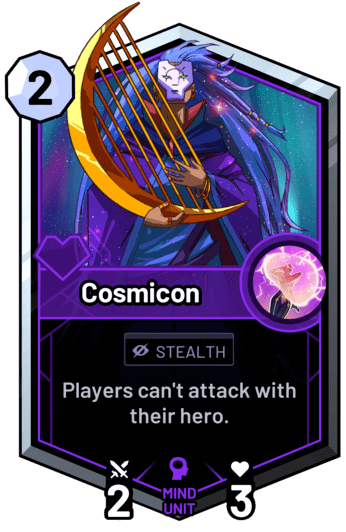 Cosmicon - Players can't attack with their hero.