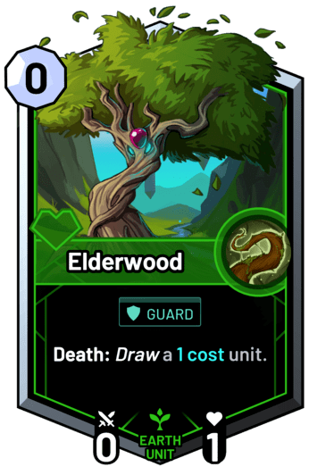 Elderwood - Death: Draw a 1c unit.