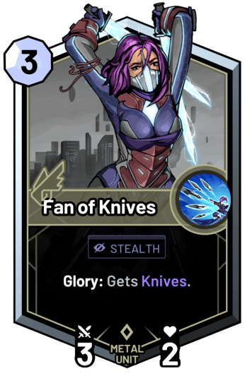 Fan of Knives - Glory: Gets Knives.