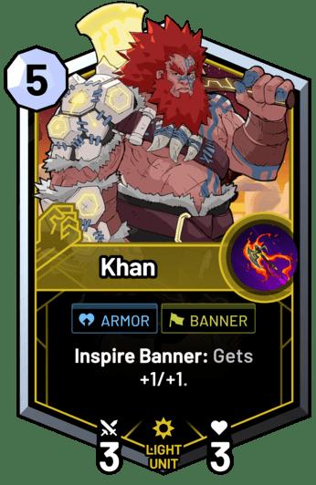 Khan - Inspire Banner: Gets +1/+1.