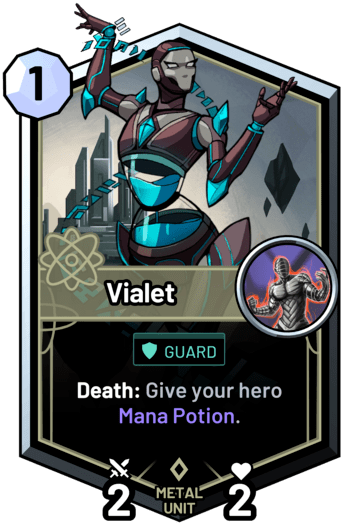 Vialet - Death: Give your hero Mana Potion.