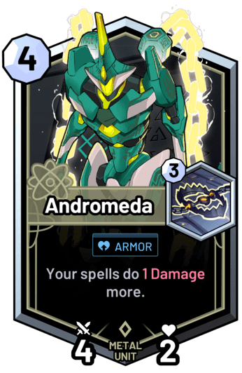 Andromeda - Your spells do 1 Damage more.