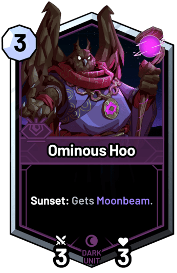 Ominous Hoo - Sunset: Gets Moonbeam.