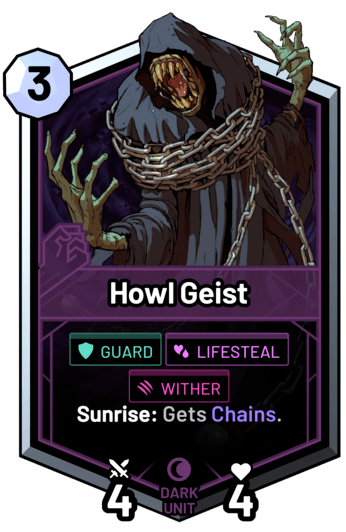 Howl Geist - Sunrise: Gets Chains.