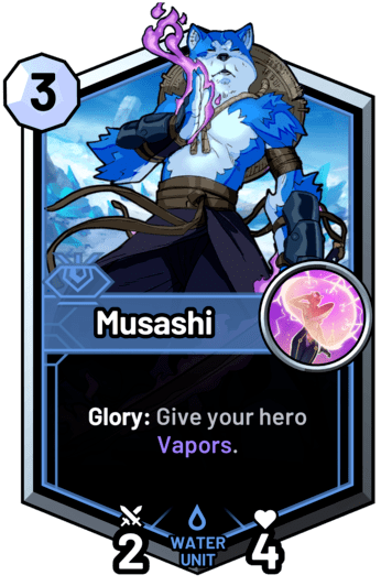 Musashi - Glory: Give your hero Vapors.