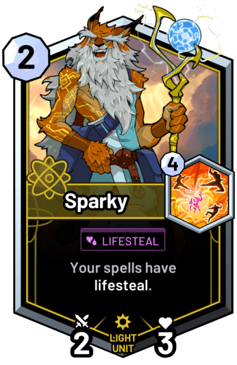 Sparky - Your spells have lifesteal.