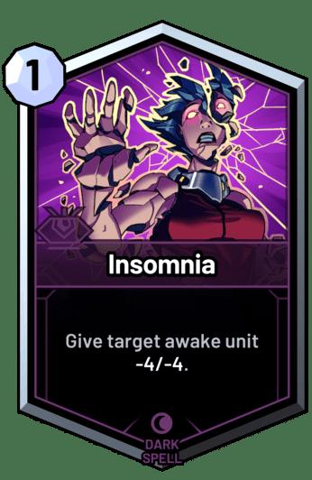 Insomnia - Give target awake unit -4/-4.