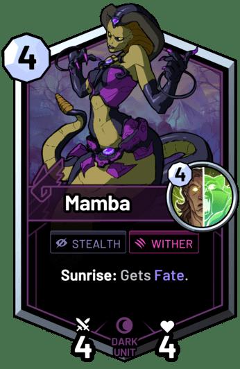 Mamba - Sunrise: Gets Fate.