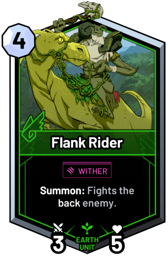 Flank Rider - Summon: Fights the back enemy.