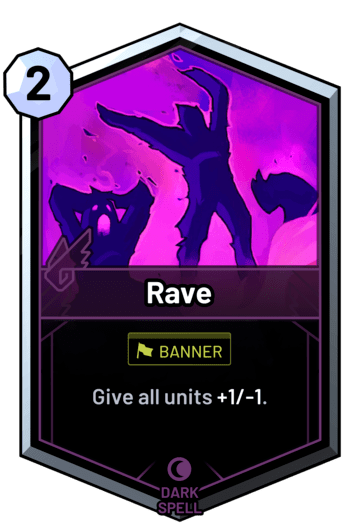 Rave - Give all units +1/-1.