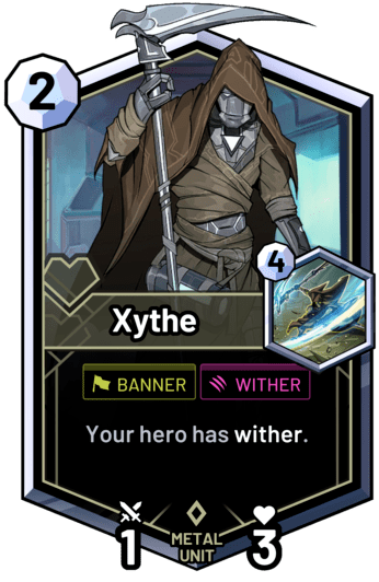 Xythe - Your hero has wither.