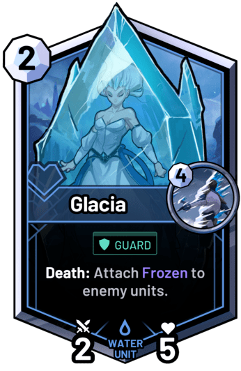 Glacia - Death: Attach Frozen to enemy units.