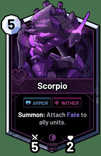 Scorpio - Summon: Attach Fate to ally units.